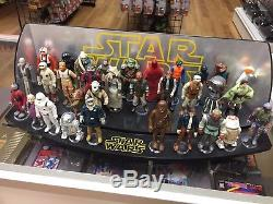 HUGE LOT! Custom Vintage Star Wars Action Figure Display! One of a king and mint