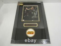 Harrison Ford, Peter Mayhew Signed 8x10 Photo in Custom Frame with COA