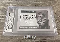 Harrison Ford Star Wars Empire Signed Custom Cut Auto Card Beckett Slabbed #1/1