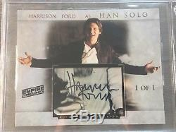 Harrison Ford Star Wars Empire Strikes Back Signed Custom Cut 8x10 Photo Beckett