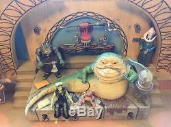 Hasbro Star Wars JABBA'S THRONE 3.75 (3 3/4) Figure Set & CUSTOM DIORAMA Oola