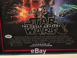 J. J. JJ Abrams Star Wars Force Awakens Autographed CUSTOM FRAMED 12x18 PSA/DNA