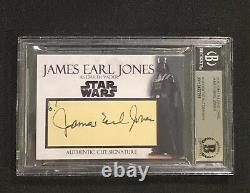 James Earl Jones Darth Vader Star Wars Signed Auto Custom Cut Signature Card Bas