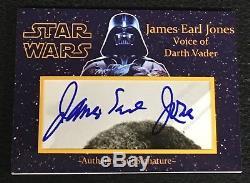 James Earl Jones Darth Vader Star Wars Signed Auto Custom Cut Signature Card Jsa