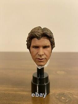 Jnix 1/6 Custom Star Wars Han Solo Head Sculpt 12 Figure Hot Toys Episode 4 5 6