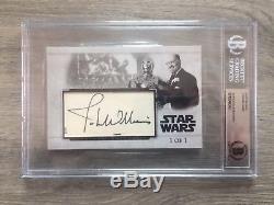John Williams Star Wars Signed Custom Cut Auto Large Card #1/1 Beckett Slabbed