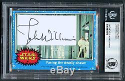 John Williams signed autograph auto 1977 Topps Custom Star Wars Card BAS Slabbed