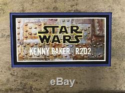 Kenny Baker R2-D2 STAR WARS Signed AWESOME Autographed Custom Framed JSA COA