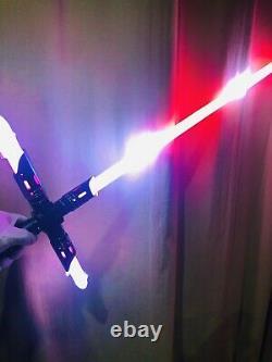 Kylo Ren Proffie Neopixel Lightsaber Crossguard Custom Lightsabers Smoothswing