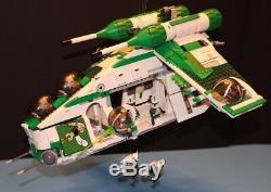 LEGO STAR WARS 75021 PHASE I 41st GREEN REPUBLIC GUNSHIP CUSTOM SET 100% LEGO