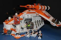 LEGO STAR WARS 75021 PHASE I Custom Orange REPUBLIC GUNSHIP 212th Legion Ship