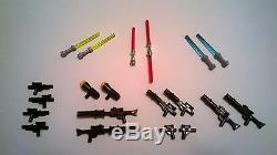 Lego Star Wars Minifig Lot 20 Weapons Custom Rifles, Blasters, Light Sabers