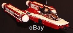 LEGO brick STAR WARS 8037 Republic DARK RED Y-WING FIGHTER CUSTOM MOC 100%LEGO