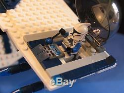 LEGO brick STAR WARS Custom 7676 Blue 501 REPUBLIC GUNSHIP + 9 Minifigures