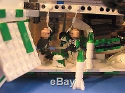 LEGO brick STAR WARS Custom 7676 GREEN 41st LEGION REPUBLIC GUNSHIP + 7 Crew