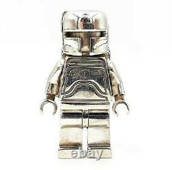 Lego Old Boba Fett CUSTOM MiniFigure Solid Sterling Silver