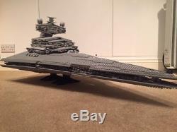 Lego Star Wars 10030 UCS Imperial Star Destroyer Custom in Light Bluish Grey