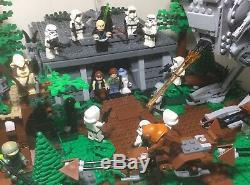 Lego Star Wars 8038 Endor Shield Generator 7956 Ewok Attack Complete Custom Set