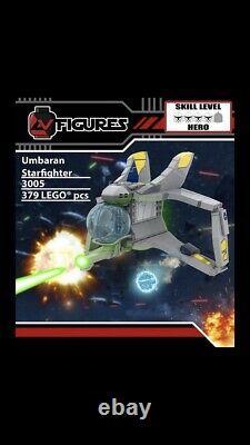 Lego Star Wars Custom AVfigures Umbaran Starfighter Set 3005