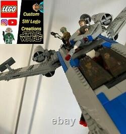 Lego Star Wars ENHANCED larger U-Wing, custom colour scheme, 9 EXTRA features