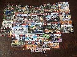 Lego Star Wars Huge Bulk Lot 22 Sets Retired 20 Pounds Custom Weapons 200 Minifi