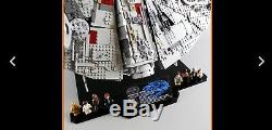 Lego Star Wars Millennium Falcon (75192) with Custom Display Stand NEW & Sealed