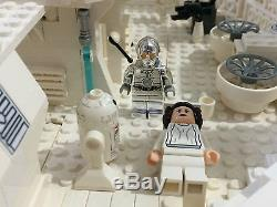 Lego Star Wars White Custom Millennium Falcon Comes With 8 Minifigures 7965 RARE