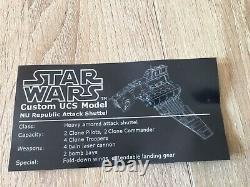 Lego UCS Republic Attack Shuttle, Lego Star Wars, Custom, MOC
