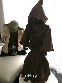 Life Size RARE Lifesize Yoda EP2 Star Wars AOTC + FREE life size custom JAWA