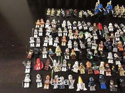 Lot of 38 Lego Star Wars Sets Over 200 Minifigs + Many Custom Weapons