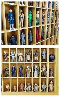 Lot of Star Wars Action Figures 118 Vintage in Custom Built Display Case