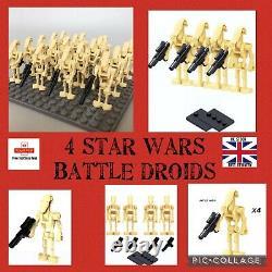 Low Price £2.594X BATTLE DROID ARMY STAR WARS MINI FIGURES Compatible MOC UK