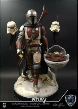MYC Sculptures Custom MANDALORIAN Star Wars 1/4 Statue #23/99