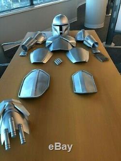 Mandalorian Star Wars 3D Printed Armor FULL SET Painted Silver CUSTOM Cosplay