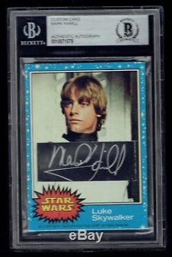 Mark Hamill #1 signed autograph 1977 Topps Star Wars Custom Cut Card BAS Slabbed