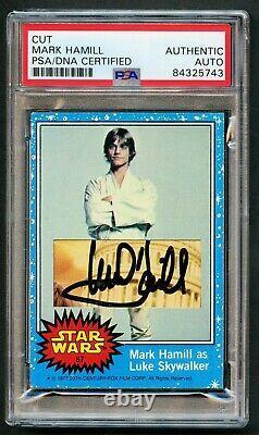 Mark Hamill #57 signed autograph 1977 Topps Star Wars Custom Cut Card PSA Slab