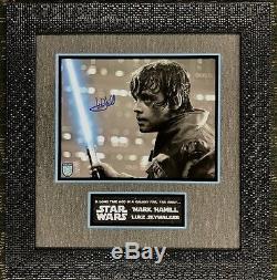 Mark Hamill Signed Luke Skywalker Star Wars Photo 11x14 Custom Framed JSA COA