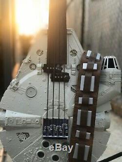 Millennium Falcon Fretless Custom Bass, Chewbacca, Han Solo Star Wars Guitar