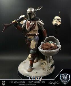 Myc Sculptures Mandalorian & The Child 1/4 Scale Custom Statue Star Wars Fan Art