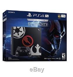 NEW Custom 5TB Star Wars Battlefront 2 Sony PS4 PRO System 5 TB Playstation 4 4K