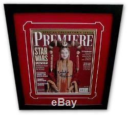 Natalie Portman Hand Signed Premier Magazine Star Wars Custom Framed PSA Q05318