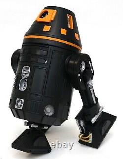 New Disney Star Wars Galaxy's Edge Droid Depot Black Orange Custom R2 Astromech