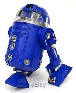 New Disney Star Wars Galaxy's Edge Droid Depot Blue Clear Custom R2 Astromech