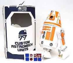 New Disney Star Wars Galaxy's Edge Droid Depot Orange Custom R2 Astromech