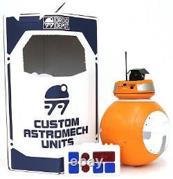 New Disney Star Wars Galaxy's Edge Droid Depot Orange White Custom BB Astromech