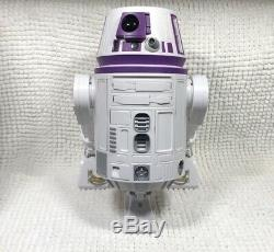 New Disney Star Wars Galaxy's Edge Droid Depot Purple White Custom R2 Astromech