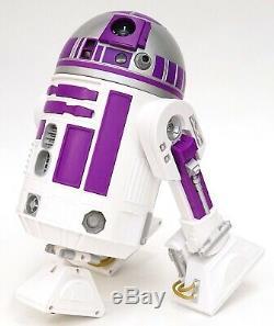 New Disney Star Wars Galaxy's Edge Droid Depot Silver Purple Custom R2 Astromech