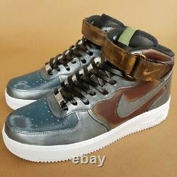 Nike Air Force 1'07 Mid Men's size 9 The Mandalorian Beskar Custom