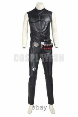 Overwatch OW Reaper Adult Men's Full Set Uniform Cosplay Costume Halloween