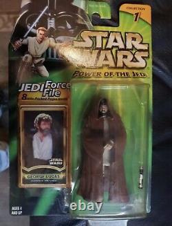 POTF Star Wars George Lucas Jedi Knight Custom Action Figure MOC